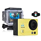 OLSUS 2 inch HD LCD Screen 4K 30fps 16MP Wi-Fi Sports Action Camera - Yellow