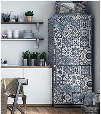 Imagen geométrica de flores Autoadhesivo Lavavajillas Refrigerador ...
