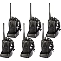 6 pcs Walkie Talkie Long Range 16 CH Rechargeable Two way Radios Built in Flash Light
