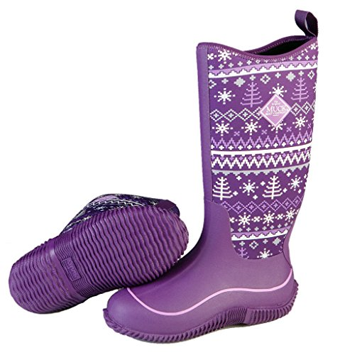 Women's Muck Boots Winter Company Purple Hale Boot Knit EqwpfEra