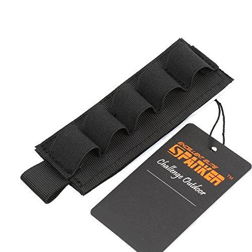 EXCELLENT ELITE SPANKER Tactical Nylon 12 Number Shotgun Bullet Shell Holder for Rifles(Black)