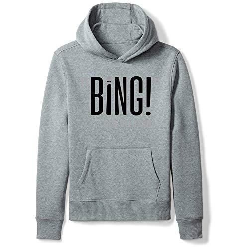 (Chjzj Bing! Creativity Graphic Pullover Sweatshirt Men's/Unisex Hoodies Streetwear Grey XL)