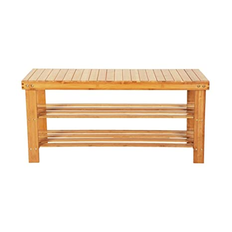 Marvelous Goujxcy Shoe Rack Bench 3 Tier Shoe Rack Storage Bench Bamboo Seat Organizing Shelf Entryway Hallway Organizer Furniture Holds Up To 551 Lbs Wood Camellatalisay Diy Chair Ideas Camellatalisaycom