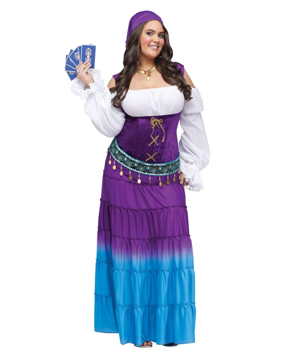 Horror-Shop Mondschein Zigeunerin Kostüm Deluxe für Halloween Halloween Halloween & Karneval XL d9c585