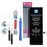 Battery for iPhone 6 Plus Replacement Kit Li-Ion 5v 2915 mAh 6.9 Wh + Anti-Static Adhesive Glue Sticker 2 x Pry + 2 x screwdrivers by MMOBIEL