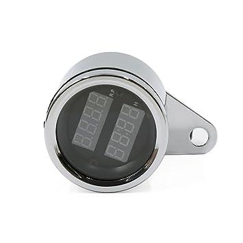 sourcingmap Reloj Tacómetro Digital de Moto LED CuentaHoras Impermeable 12V CC: Amazon.es: Coche y moto