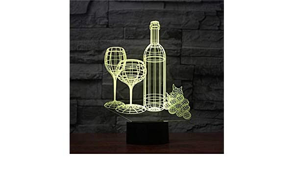 JYHW Led 7 colorido taza de vino de acrílico botella modelado luz ...