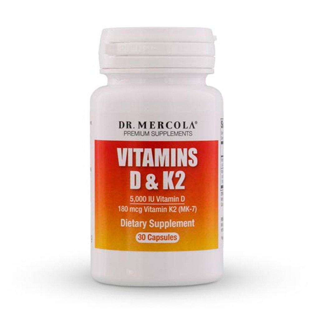 DR MERCOLA Vitamins D and K2 Capsules, 30 Count