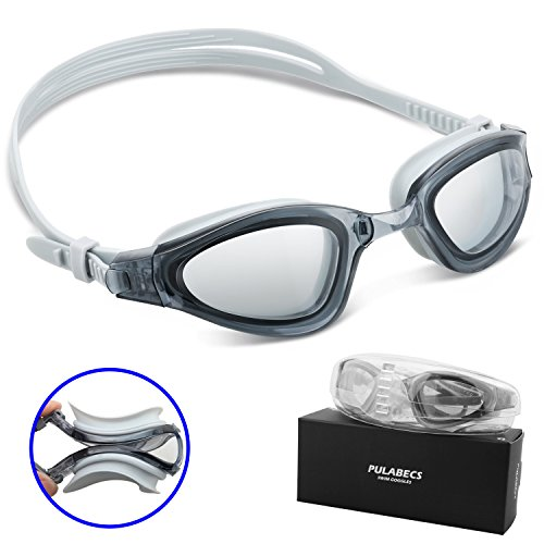 Pulabecs Swimming Goggles With Anti Fog UV Clea...