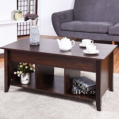 Coffee Table Hidden Chairs: Lift Top Coffee Table Modern Living Room Furniture With