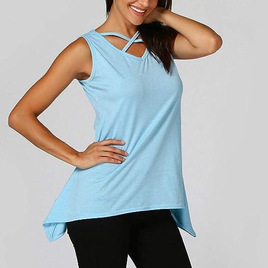 Blusa Tipo túnica Gabrerry Informal, sin Mangas, Color sólido ...
