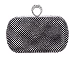 HMaking Clutch Purse Crystal Rhinestone Clutch Evening Bag