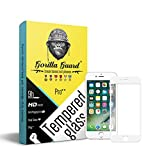Gorilla guards HD+ white bezled 5D tempered glass screen protector for Apple iPhone 7 4.7inch (PRO++ series) 10H hardness, oelophobic, UV protect, 2.5D rounded edges, neo coated, free instalation kit, BEST DEAL!
