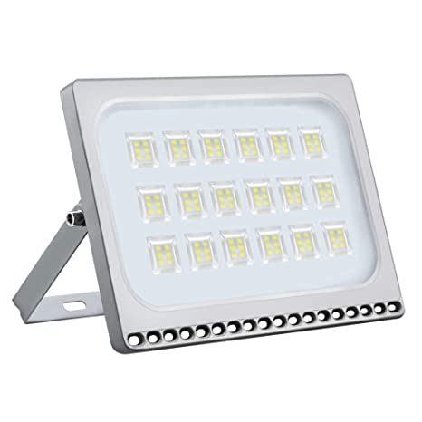 100W Foco LED Exterior, 10000LM 6000K Blanco Frio Ultra Delgado ...