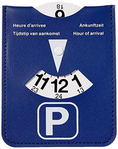 Parkeerschijf Kangaro in blauwe kunstlederen behouder, K-0035D220