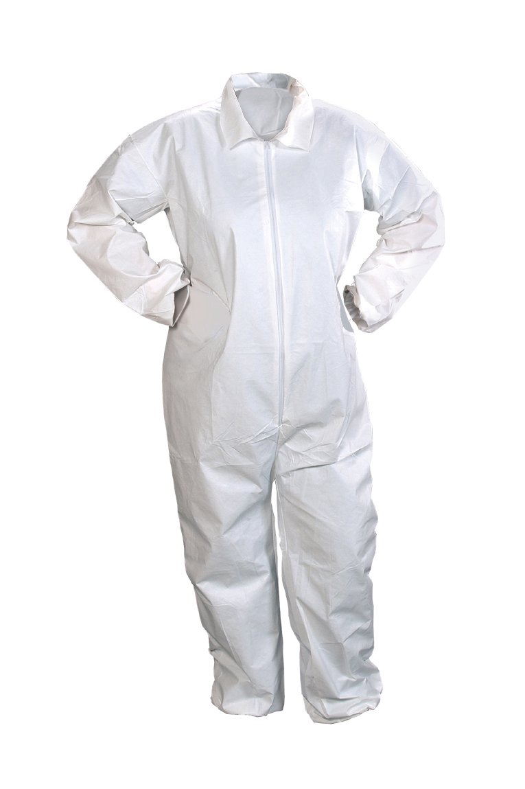 Image of Alpha Pro Tech Critical Cover CV-J4022-6 ComforTech Coveralls, Elastic Wrist and Ankle, Serged Seams, White, 3X Size (Case of 25) Basic Cases