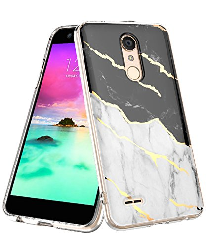 LG K30 Case 2018,LG K10 Case Marble Design Clear Bumper Protection Hybrid Armor Shockproof TPU Soft Rubber Silicone Cover Phone Case for LG Premier Pro/LG K10 Plus (White)