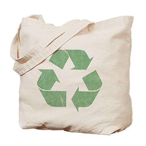 CafePress - Vintage Recycle Logo - Natural Canvas Tote Bag, Cloth Shopping Bag