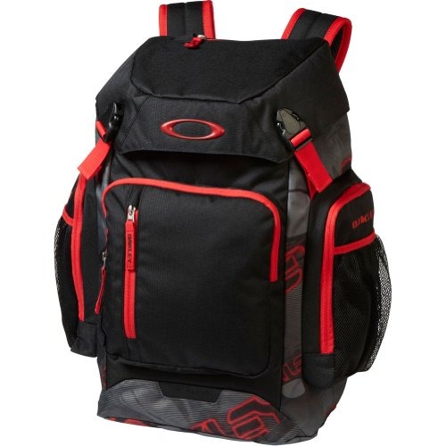 Oakley Men's Works Pack 30L Backpack, Grey/Red, One Size