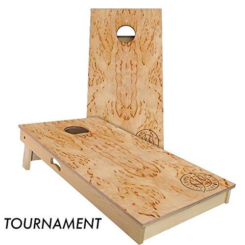 Slick Woody's Masur Birch Cornhole Board Set 4' by 2' Tournament size by Slick Woody's Cornhole Co.