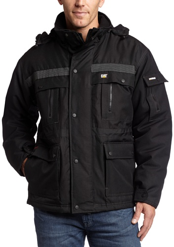 Winter Jacket Waterproof (Caterpillar Men's Heavy Insulated Parka Coat, Black, Large)