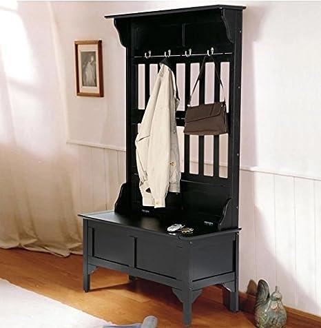 Amazon.com: Home Styles Hoisin Hall, banco de madera para ...