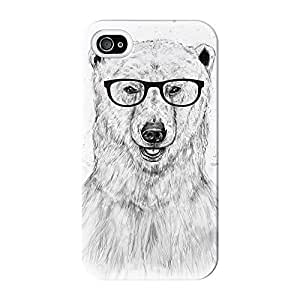 Geek Bear Full Wrap High Quality 3D Printed Case for iPhone 4 / 4s by Balazs Solti + FREE Crystal Clear Screen Protector