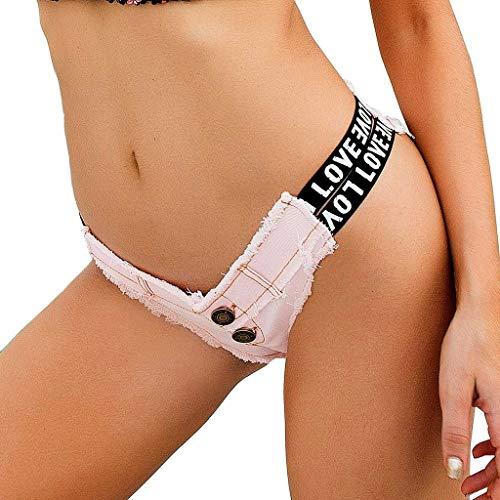 ANJUNIE Women Low-Rise Denim Shorts Jeans Super Mini Pants Popular -