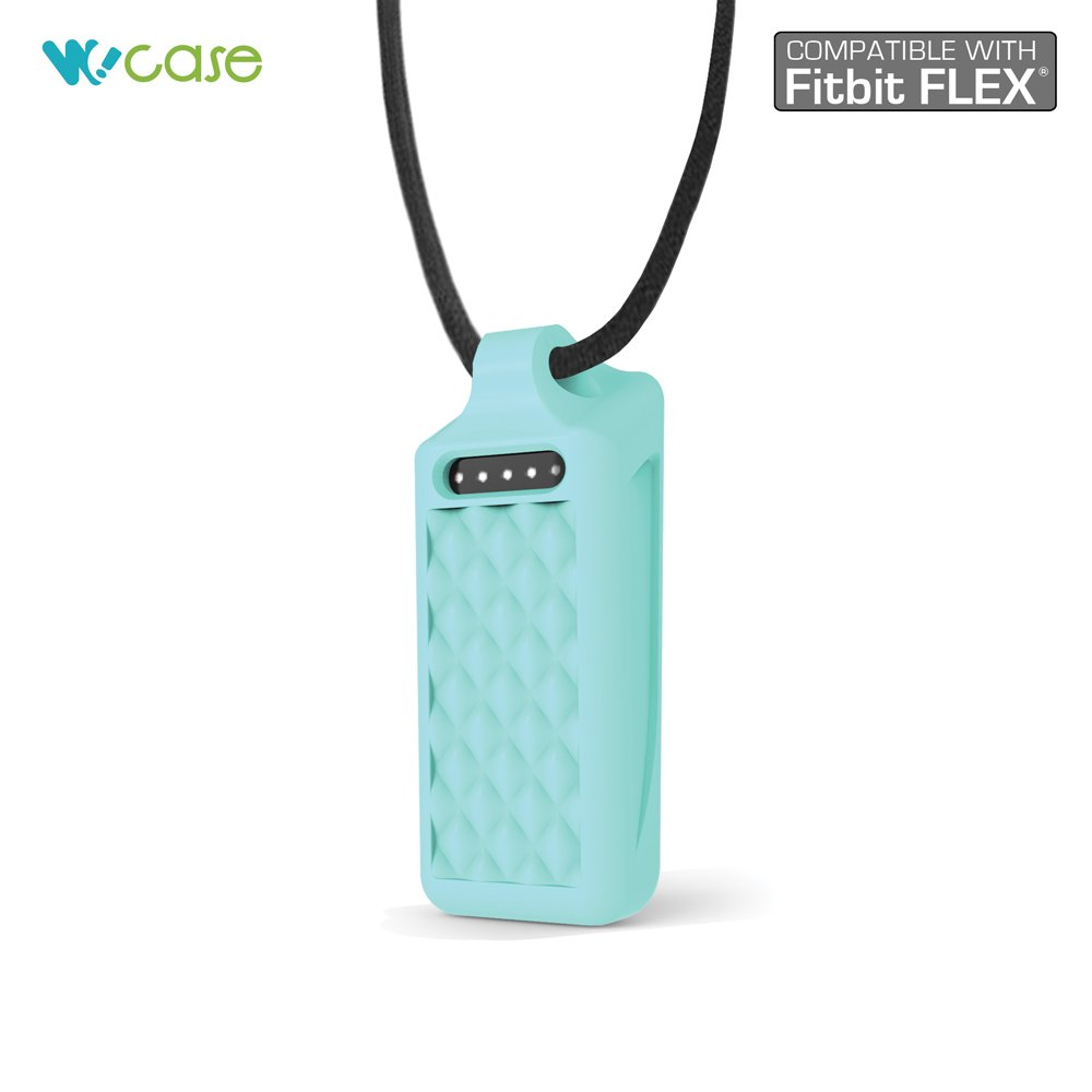One Size, Fits Most Wrist Diamond Shape Quilted Style WoCase Pendant Necklace Activity and Sleep Tracker Wristband Band Bracelet Best Gift for Fitbit Flex User for Fitbit Flex