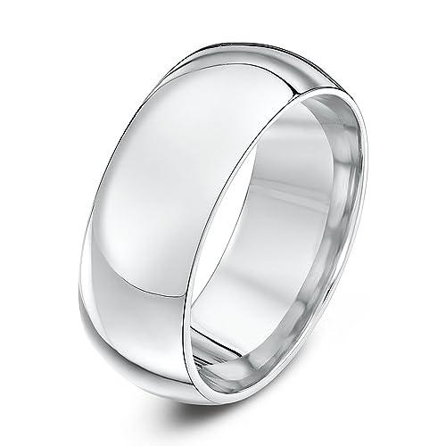 Palladium Wedding Ring Court Shape Band