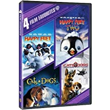 4 Film Favorites, Critters with Character Collection: Happy Feet, Happy Feet Two, Cats & Dogs, and Cats & Dogs: Revenge of Kitty Galore