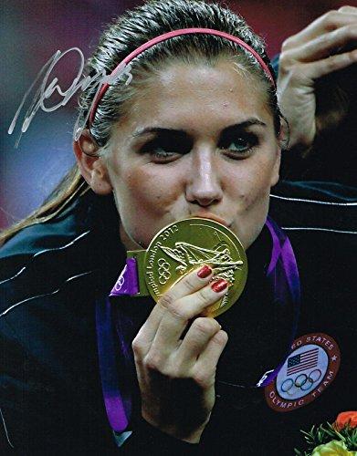 Alex Morgan Autographed Picture - 11x14 GOLD MEDAL COA - Autographed Soccer Photos