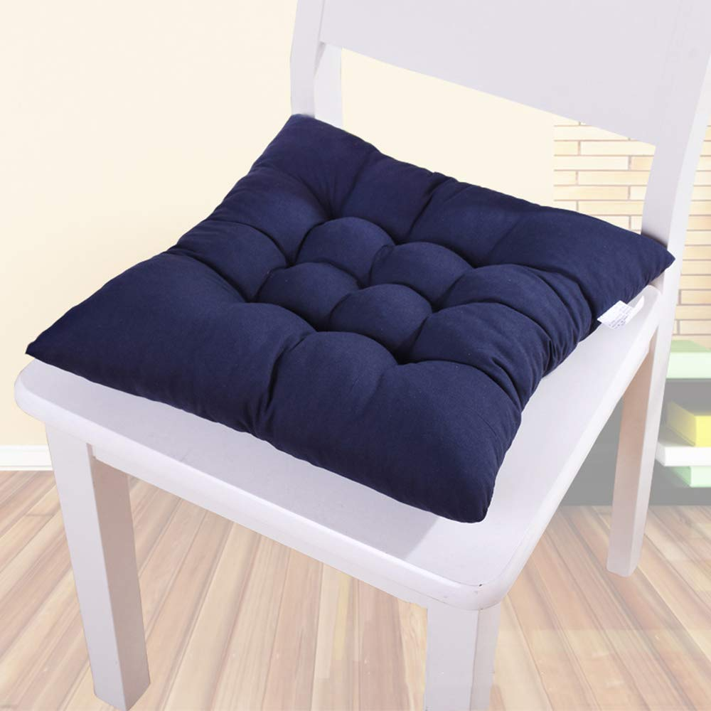 Garden Patio Dining Room Decoration 15.75/'/' * 15.75/'/' Fautly Chair Cushion//Seat Pads Colorful Square Thicker Sofa Padded Chair Mat Pillow Floor Cushion for Home Kitchen Office Navy Blue