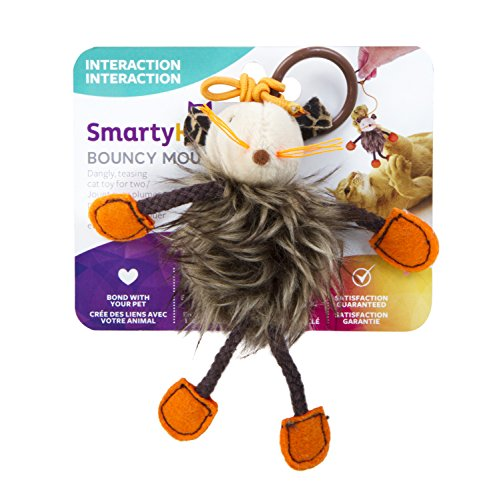 Teaser Tail Monkey - SmartyKat Bouncy Mouse Cat Toy Bungee Toy