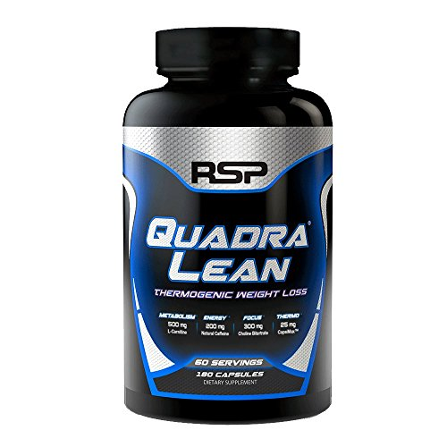 RSP QuadraLean Thermogenic Fat Burner – Cutting-Edge Weight Loss Supplement for Men & Women, Metabolism Booster with Yohimbe, Alpha GPC and Natural Caffeine for More Energy & Fat Loss, 60 Servings