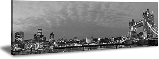 Chicago Skyline City Sunset B/&W CANVAS WALL ART MULTI Panel Picture Print