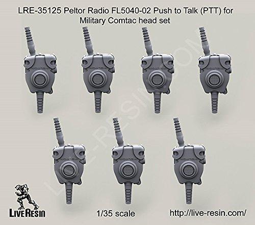 (Live Resin 1:35 Peltor Radio FL5040-02 PTT for Military Comtac Headset #LRE35125)