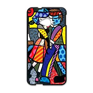 Canting_Good Romero Britto art Custom Case Shell Skin for HTC One M7(Laser Technology)