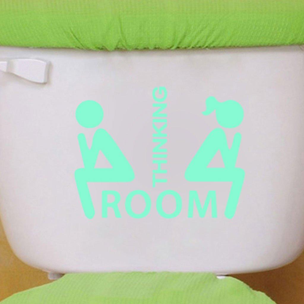 YDZN Luminous Novel Wall Sticker ToiletSticker Decoration Living Room Children Room Night Safe Sign