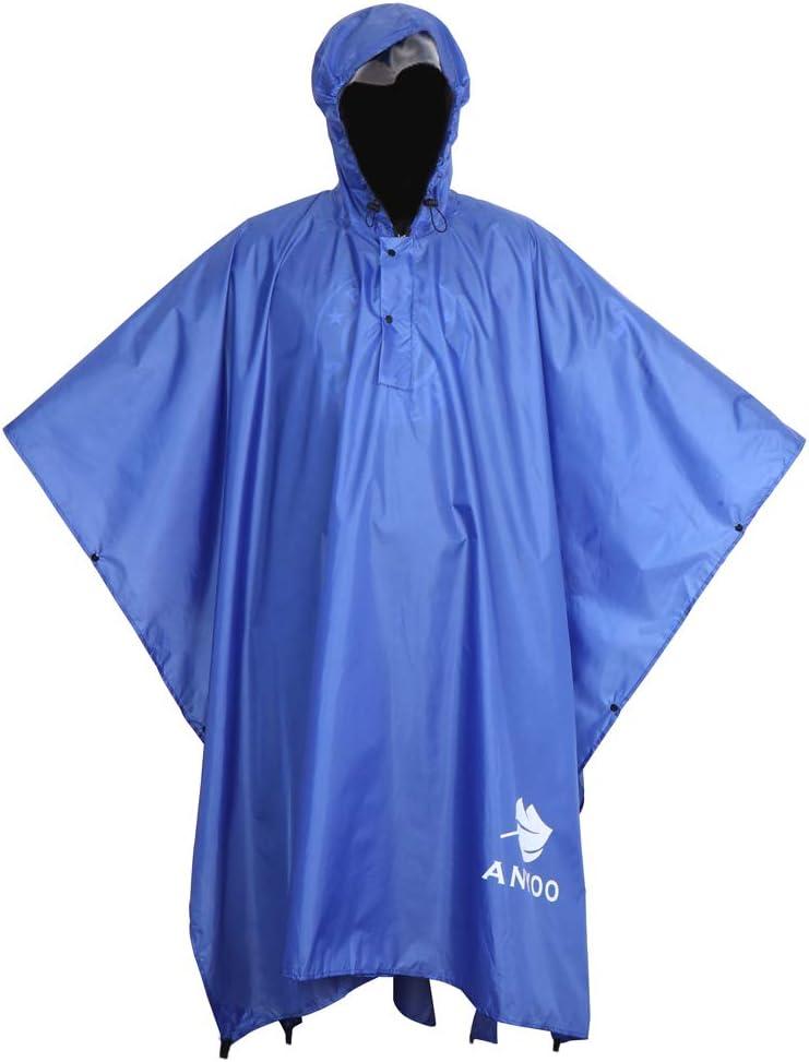 Artibetter 15 Pezzi di Poncho da Pioggia USA E Getta Impermeabili Tuta Protettiva Abito di Isolamento Impermeabile Totale con Cappuccio per Il Lavoro Esterno Colore Casuale
