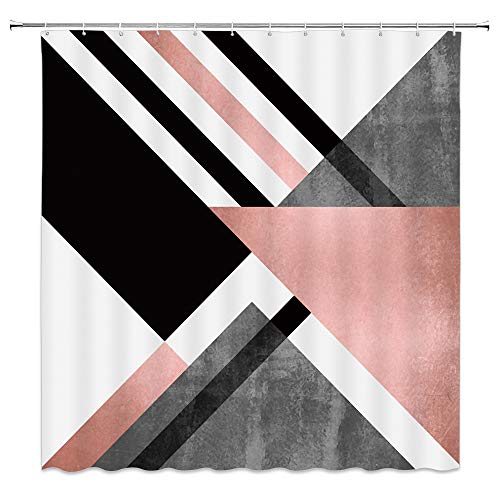 pink and grey shower curtain - 7