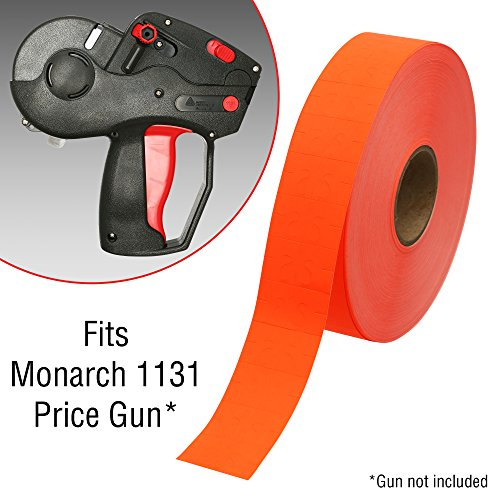 Flou. Red Pricing Labels for Monarch 1131 Pricing Gun – 8 Sleeve, 160,000 Price Gun Labels – with Bonus Ink Rolls by Perco (Image #2)