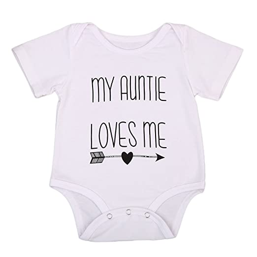 90987abf2eaab Cotton Newborn Infant Baby Boys Girls Short Sleeve Aunt Bodysuit Romper  Outfit Clothes