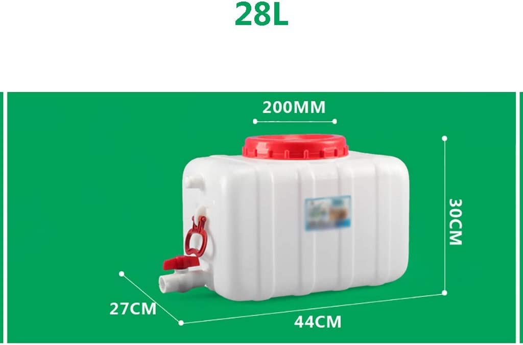 Plastic Water Container Water Buckets With Tap DLYDSS 28L-80L Horizontal Water Storage Tank Suitable For Field Travel Car Use Size : 30L