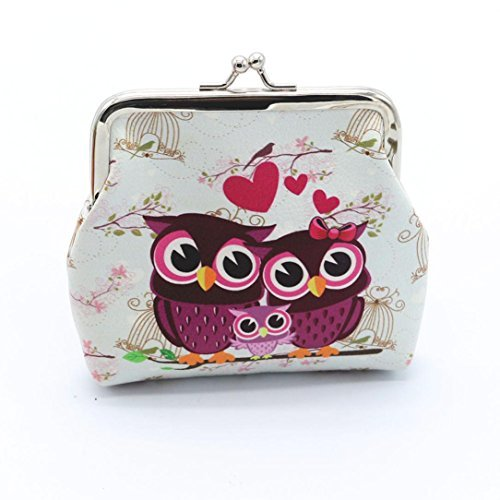 Best Women Lady Retro Vintage Owl Leather Small Wallet Hasp Purse Clutch Bag