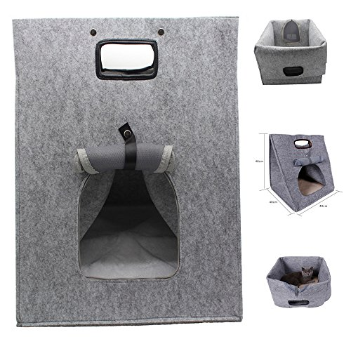 Felt Cat Carrier,Felt Cat Bed,Cat Cave,Felt Cat Cave,Multifunctional Cat Bed,Pets House,Portable Travel Carrier Bag for Small Pets