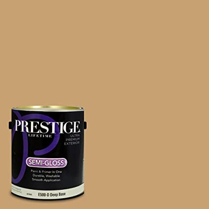 Prestige Paints E500 D 3004 7cvp Exterior Paint And Primer In One 1 Gallon Semi Gloss Comparable Match Of Valspar Buckskin Pony 1 Gallon