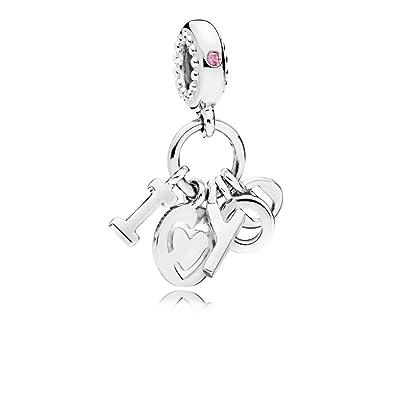 nuovo stile 6c3e7 48519 Pandora Charm Con Pendenti i Love You: Amazon.co.uk: Jewellery