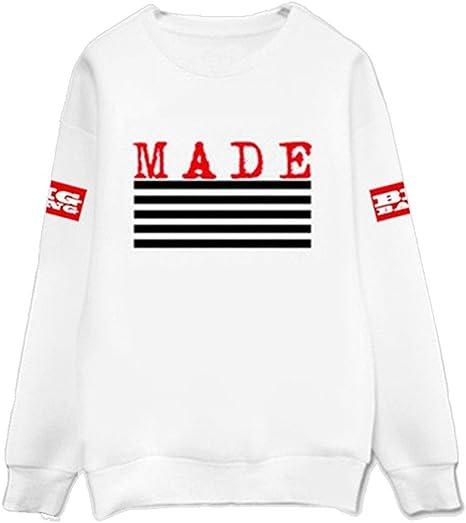 Kpop Sweatershirt Bigbang GD G-Dragon Sweatershirts Pullover Striped Jumper  New