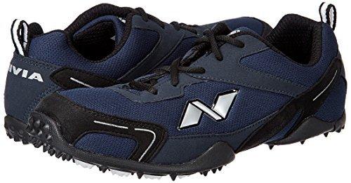 2. Nivia Men's Marathon Mesh PU Blue and Black Running Shoes